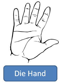 hand in German